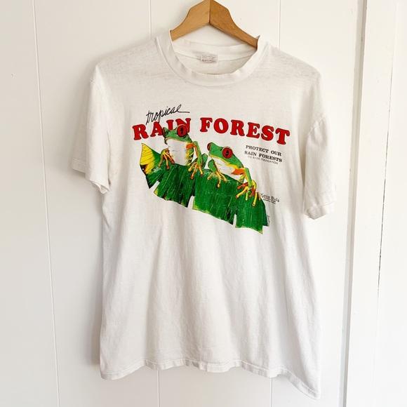 Vintage Other - Vintage rainforest t-shirt thin distressed cotton